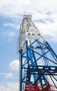 detail from a floating crane - stock photo