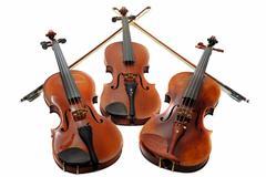three violins - stock photo