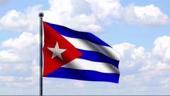Animated Flag of Cuba Stock Footage