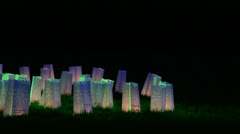 Luminaries on the grass Stock Footage