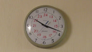 Stock Video Footage of Analog Industrial Wall Clock HD