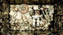 robot toys - stock footage