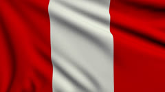 Flag of Peru looping Stock Footage