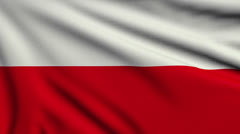 Flag of Poland looping - stock footage