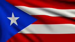 Flag of Puerto Rico looping - stock footage