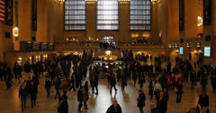 Ultra HD 4K Grand Central Terminal Station NYC, Busy People Commuters Morning Stock Footage