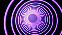 Purple Hypnotic Spiral Shape Abstract Background Stock Footage
