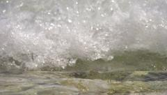 SLOW MOTION: Sea foam coming towards Stock Footage