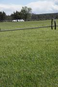 Self propelled irrigation sprayers Stock Photos