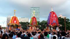 Iscon Rath Yatra festival Kolkata Stock Footage
