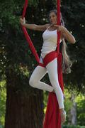 Acrobat in a park Stock Photos