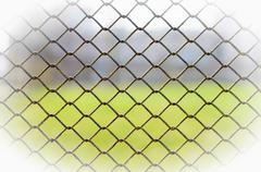 Metallic wire fence Stock Photos