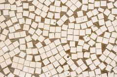irregular mosaic texture - stock photo