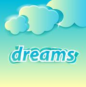 dreams lettering - stock illustration