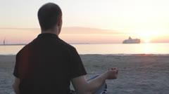 Beautiful Meditative Sunset Stock Footage