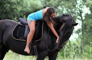 Stock Photo of riding girl