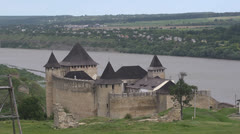 Khotyn castle Stock Footage