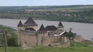 Khotyn castle Stock Footage