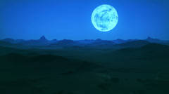 593 Night Landscape with moon A HD 1080p Stock Footage