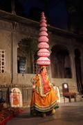 Bhavai performance - famous folk dance of rajasthan Stock Photos