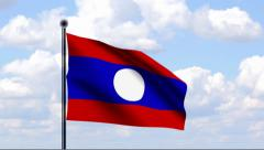 Animated Flag of Laos - stock footage