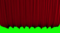 Red Stage Curtain go UP and DOWN Stock Footage