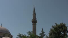 Minaret in Kaleici Old Town Stock Footage