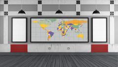 Univesity classroom without student Stock Illustration