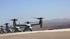Osprey Helicopters of 3rd MAW conducts air lift of battalion Stock Footage