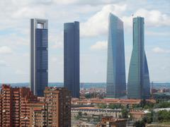 Madrid (Spain): Four Towers Business Area - stock photo