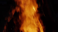 FIre with sparks 2 Stock Footage