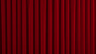 Stock Video Footage of Red Austrian Stage Curtain go UP and DOWN.