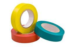 adhesive tape isolated on white - stock photo