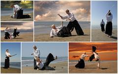 aikido - stock photo