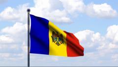 Animated Flag of Moldova Stock Footage