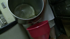 corn oil recycling - stock footage