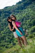 Two girls having fun Stock Photos