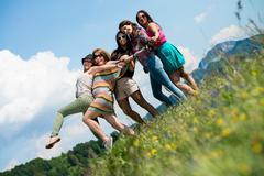Group of girls having fun Stock Photos
