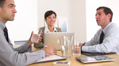 Hardworking businessteam in a meeting - stock footage