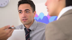 Business partners discuss future company plans Stock Footage