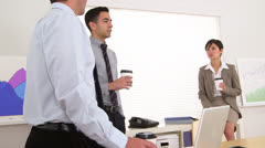 Businessteam on a coffee break - stock footage