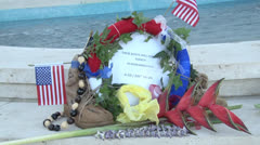 Memorial Day at the National Memorial Cemetery of the Pacific (Punchbowl) Stock Footage