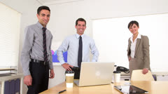 Portrait of succesful businessteam - stock footage