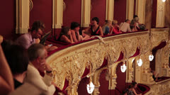 People in Theatre Stock Footage