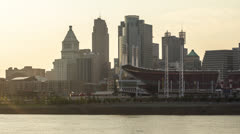 Cincinnati Skyline Time Lapse - stock footage
