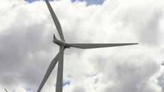 Wind Turbines and Clouds Timelapse with Zoom in Washington State Stock Footage