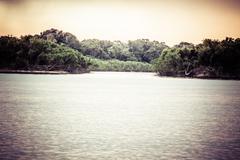 Sunset on the amazon river, brazil Stock Photos