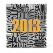 New year 2013.cube built from numbers. 3d Stock Illustration