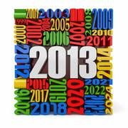 new year 2013.cube built from numbers. 3d - stock illustration