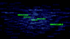 Binary Code 001 - B - Unavailable - 24 fps Stock Footage